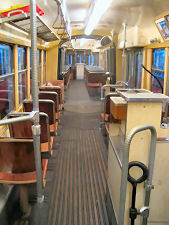 Articulated Railcar class F from inside