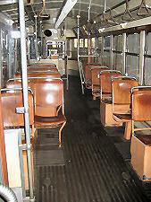 Tramcar class L from inside